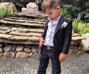 boy, kids, and suit image