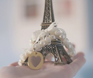 paris, eiffel tower, and heart image