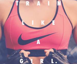 girl, fitness, and train image