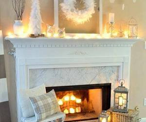 christmas mantle and winter white image