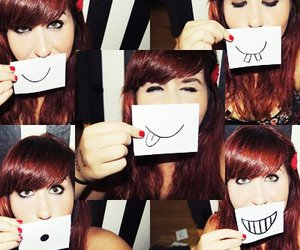 face, red heart, and girl image