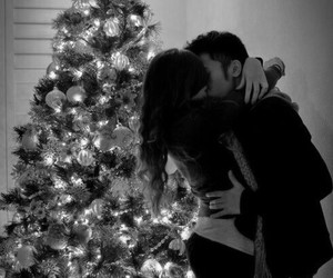 love, christmas, and kiss image
