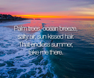 summer, ocean, and quote image