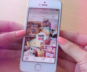 iphone, we heart it, and nails image