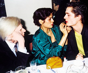 andy warhol, bianca jagger, and famous image