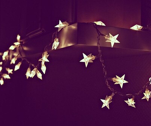 light, stars, and christmas image