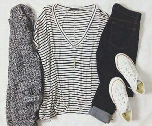 casual, converse, and fashion image