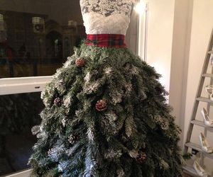 christmas, dress, and tree image
