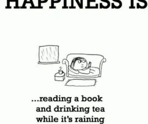 book, happiness, and tea image