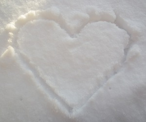 snow, heart, and winter image