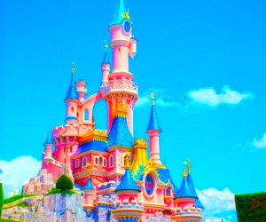 bright, castle, and pastel image