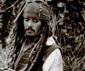 jack sparrow, johnny depp, and smile image