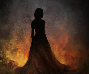 art, dress, and fire image