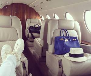 luxury, plane, and bag image