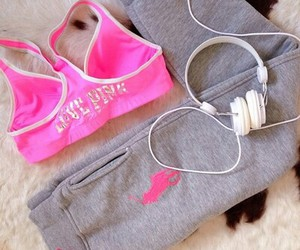 pink, workout, and clothes image