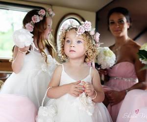 girl, baby, and bridesmaid image