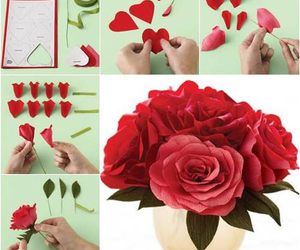 diy, paper roses, and simple image