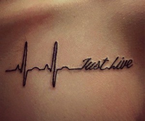 tattoo, live, and just live image
