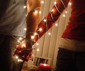 love, light, and christmas image