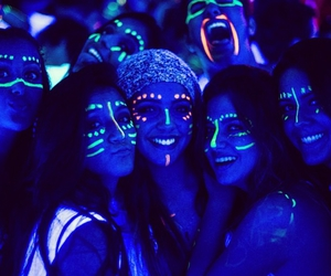 girl, neon, and fun image