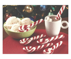 candy canes, christmas, and cocoa image