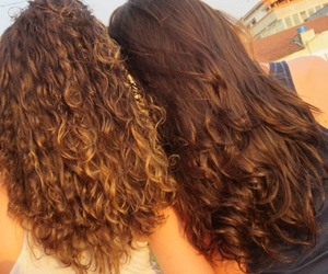 curly, friend, and girl image
