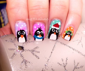 christmas, colourful, and nails image