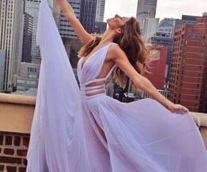 dress, city, and purple image