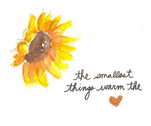 quotes, heart, and sunflower image