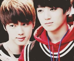 jin, jinkook, and bts image