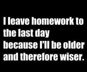homework, funny, and wise image