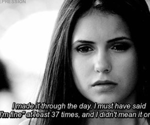 the vampire diaries, elena gilbert, and i'm fine image
