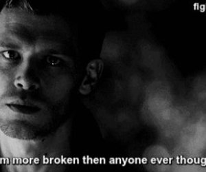broken, the vampire diaries, and klaus mikaelson image