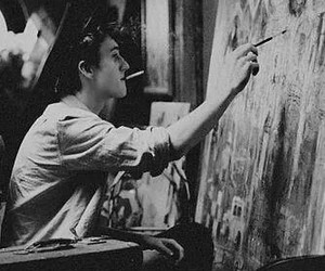 boy, art, and black and white image