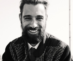 man, beard, and black and white image