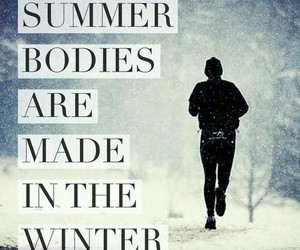 winter, fitness, and body image