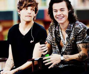 larry, one direction, and louis tomlinson image