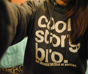 brunette, girl, and hoodie image