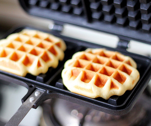 waffles, food, and delicious image