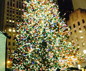 christmas, tree, and rockefeller center image