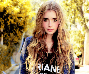 lily collins, hair, and actress image