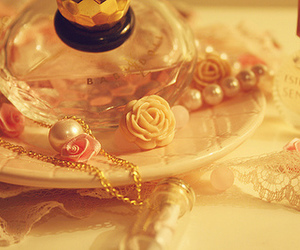 perfume, lace, and rose image