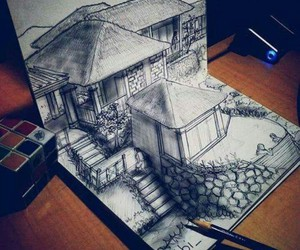 drawing, house, and perfect image