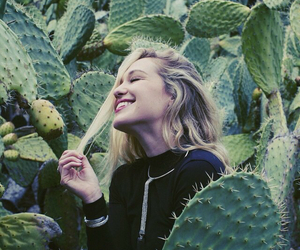 girl, cactus, and hair image