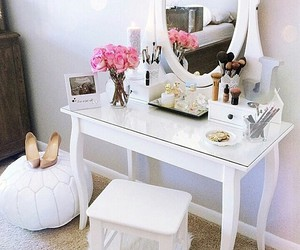 makeup, white, and room image