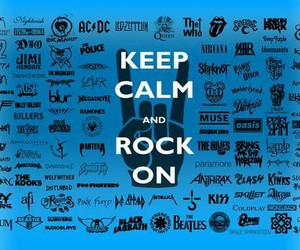 bands, blue, and music image