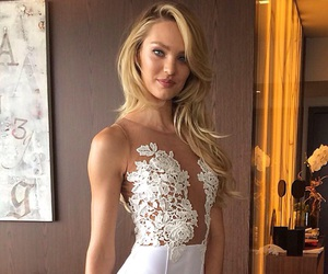 model, dress, and candice swanepoel image