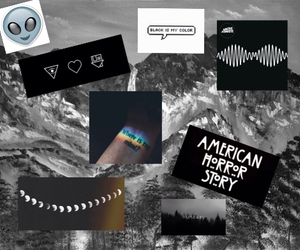 arctic monkeys, black, and ahs image