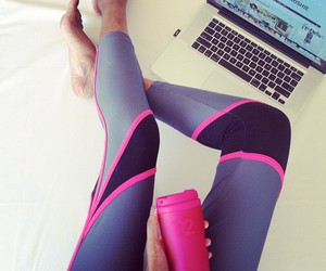 fitness, pink, and leggings image