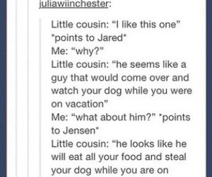 funny, jared, and jensen image